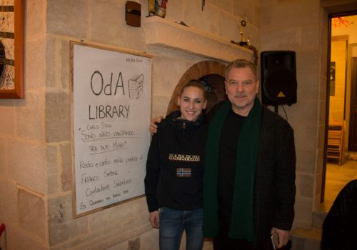 """OdA Library con FRANCO SIMONE / presentazione """"Sono nato cantando…fra due mari"""" iQdB"""